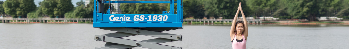 Innovative Genie® Gs™-1330m Scissor Lift Ideal For Low-Level Access And Restricted Spaces